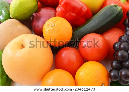 ?Fresh fruits and vegetables - stock photo