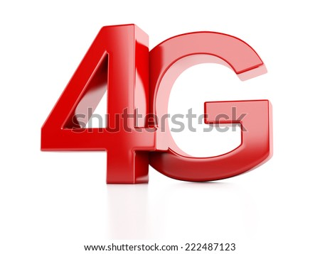 4G icon. wireless communication technology concept - stock photo