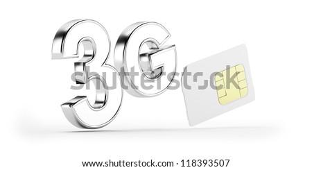 3G SIM card - stock photo