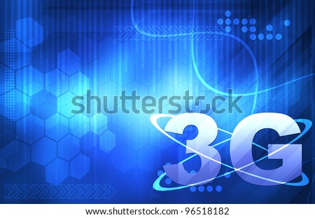 3G Smart wallpaper for your text - stock photo
