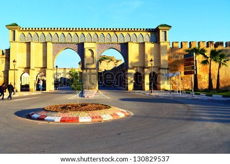 gate to the city - stock photo
