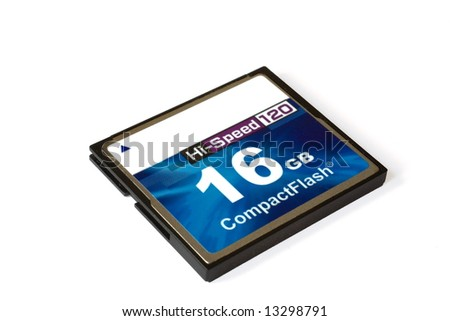 16GB CF-card isolated - stock photo