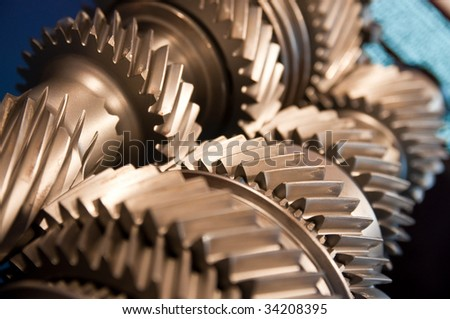gearbox modern car - stock photo