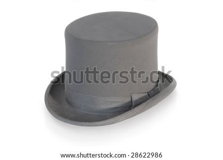 Gentleman's top hat - stock photo