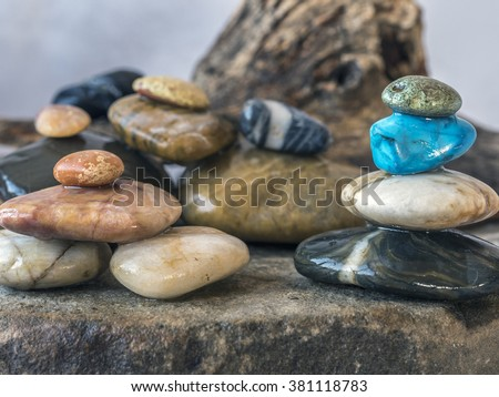 geology, rock or stone is a naturally occurring solid aggregate of one or more minerals or mineraloids. - stock photo
