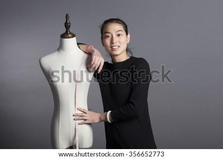Georgia seamstress at work - stock photo