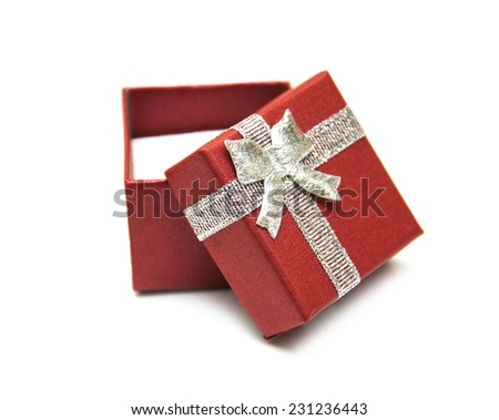 gift box package  on a white background - stock photo