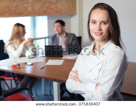 girl in the office  - stock photo