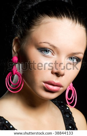 glamour woman close-up - stock photo