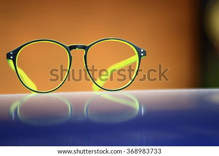 Glasses accessories personality to look good for all ages.in-Thailand. - stock photo