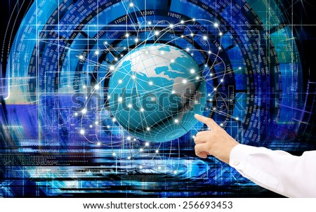 Global  innovative  Internet technologies for business - stock photo