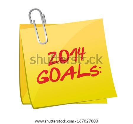 2014 goals post illustration design over a white background - stock photo