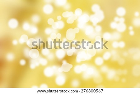 Golden Holiday Abstract Glitter Defocused Background With Blinking Stars. Blurred Bokeh - stock photo