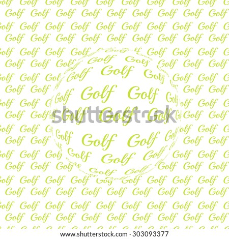 golf ball. Golf element for design logo. Golf background with lettering. wallpaper for website. Golf texture background. seamless pattern for golf  - stock photo