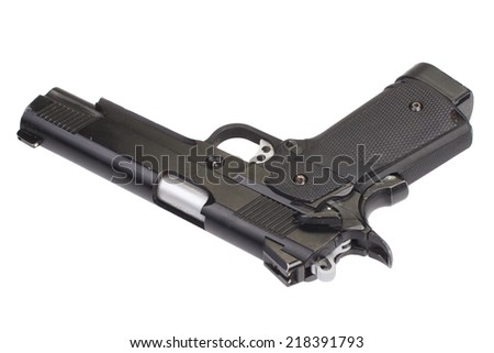 government m1911 - air gun isolated on white - stock photo