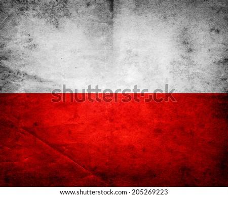 Grange Flag Of Poland - stock photo