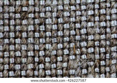 Gray Natural Textile Background / Canvas Fabric Textured Background.
