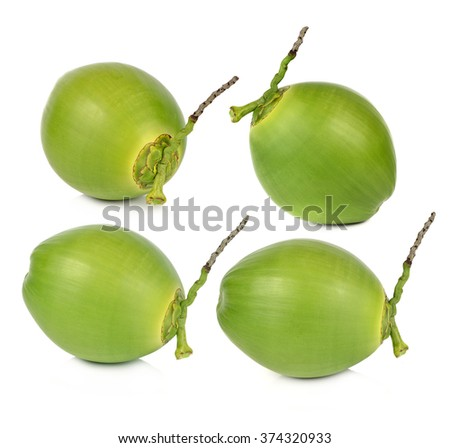 Green coconut Fruit - stock photo