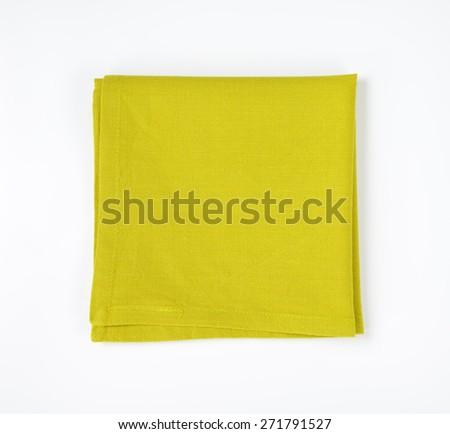 'Green folded napkin - stock photo