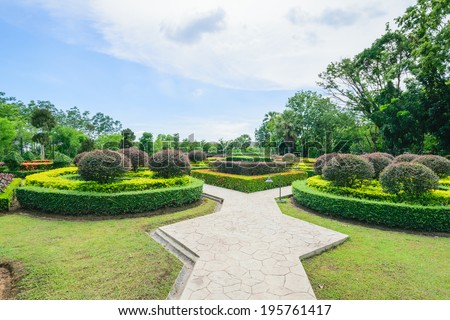 Green Garden beautiful park - stock photo