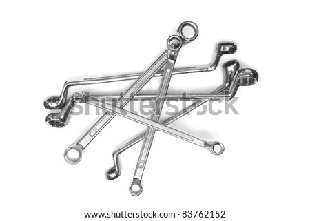 group of ring wrench - stock photo