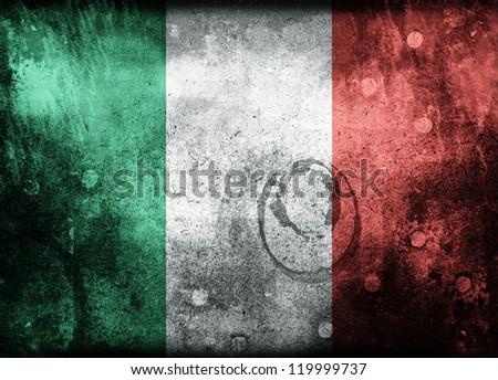 Grunge Flag of Italy - stock photo