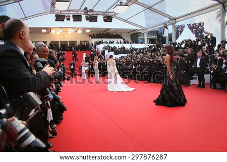 Guest attend the opening ceremony and 'La Tete Haute' premiere during the 68th annual Cannes Film Festival on May 13, 2015 in Cannes, France. - stock photo