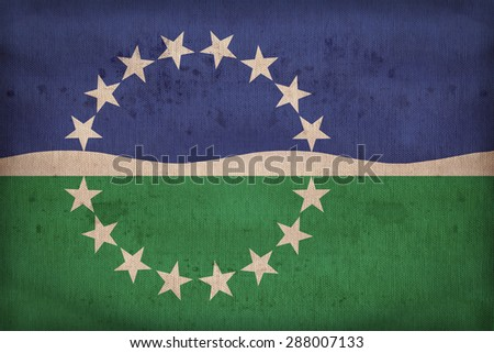Hampton Roads ,Virginia flag on fabric texture,retro vintage style - stock photo