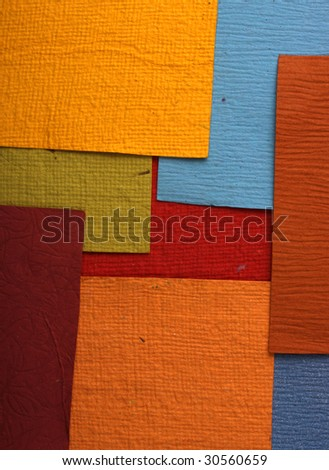Handmade color papers for background - stock photo