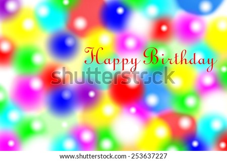 happy birthday - stock photo
