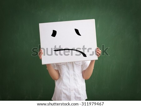 harassment at school,  child abuse, bullying - stock photo