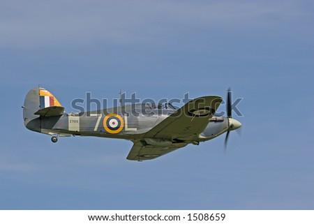 1941 Hawker Sea Hurricane in Flight - stock photo