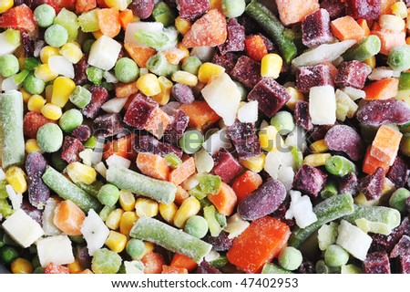 Heap sliced various vegetables . Close-up. - stock photo