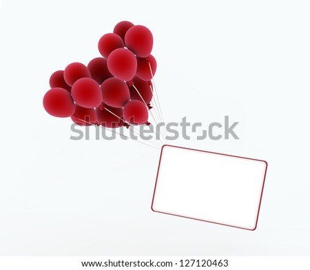 Heart shape balloon. Heart for Valentines Day Background. - stock photo