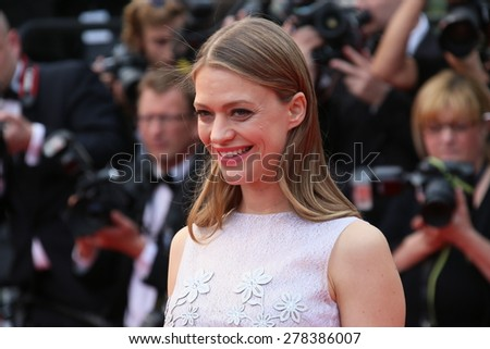 Heike Makatsch attends the Premiere of 'Irrational Man' during the 68th annual Cannes Film Festival on May 15, 2015 in Cannes, France. - stock photo