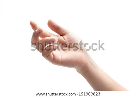 Holding something in the hand  - stock photo
