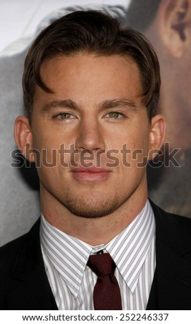 """01/02/2010 - Hollywood - Channing Tatum at the World Premiere of """"Dear John"""" held at the Grauman's Chinese Theater in Hollywood, California, United States.   - stock photo"""