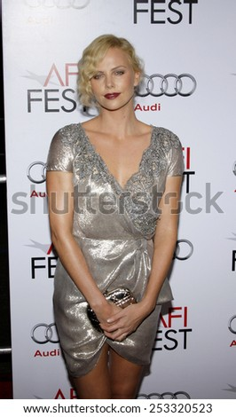 "04/11/2009 - Hollywood - Charlize Theron at the AFI FEST 2009 Screening of ""The Road"" held at the Grauman's Chinese Theater in Hollywood, California, United States.  - stock photo"