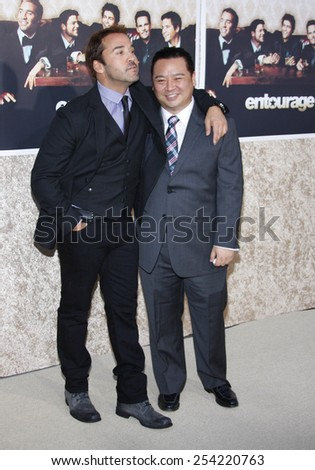 """9/7/2009 - Hollywood - Jeremy Piven and Rex Lee at the HBO's Official Premiere of """"Entourage"""" Season 6 held at the Paramount Pictures Studios in Hollywood, United States.  - stock photo"""