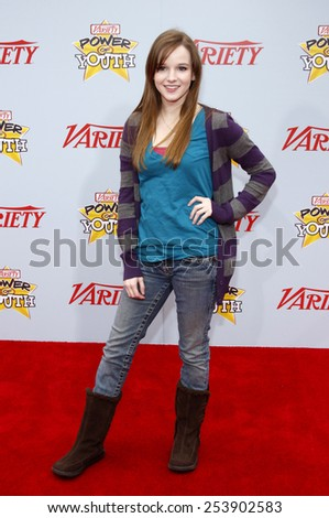 05/12/2009 - Hollywood - Kay Panabaker at the Variety's 3rd Annual Power of Youth Event held at the Paramount Pictures Studios in Hollywood, California, United States.  - stock photo