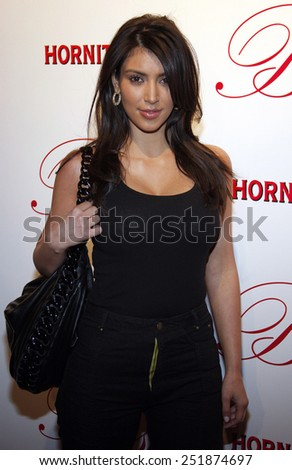 06/03/2008 - Hollywood - Kim Kardashian arrives to the opening of Beso Restaurant held at the Beso in Hollywood, California, United States.  - stock photo
