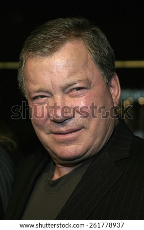 """03/23/2005 - Hollywood - William Shatner at the """"Miss Congeniality 2: Armed and Fabulous"""" Premiere at the Chinese Theatre. - stock photo"""