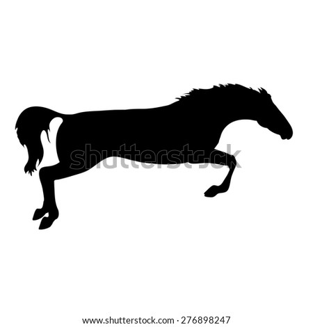 horse images. Silhouette horse drawings. horse posters. Running horse silhouette. Silhouette of a horse head. Horse jumping - stock photo