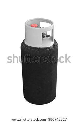 Hot Air Balloon gas tank isolated on white background with clipping path - stock photo