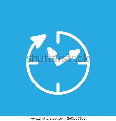 24 hour assistance , clock Icon Isolated on blue Background - stock photo