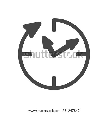 24 hour assistance , clock Icon Isolated on white Background - stock photo