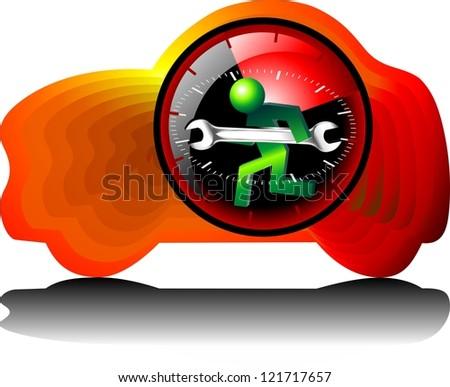 24 hour maintenance car - stock photo
