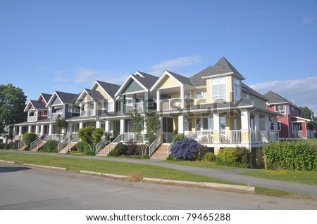 house  in spring - stock photo
