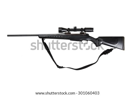 30-06 hunting riffle isolated on white - stock photo