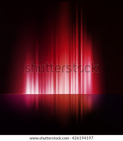 illustration Abstract dark background with shiny light lines - stock photo